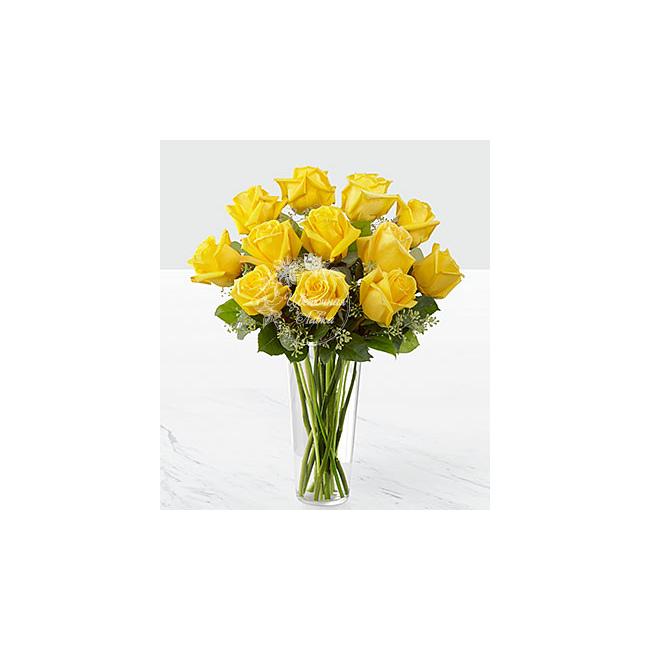 Маленький букет из желтых роз, купить букет гвоздик